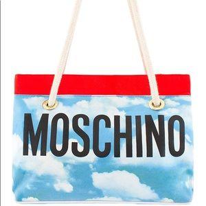 Vintage moschino 90s cloud print handbag RARE